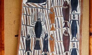 Authentic Aboriginal bark paintings from the Northern Territory